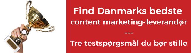Hvem er Danmarks bedste content marketing leverandør