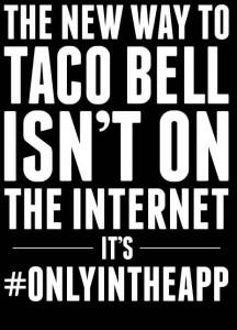 Taco Bell i sort