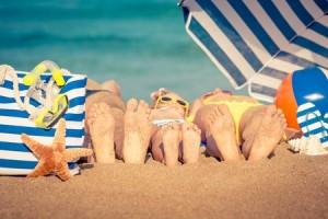 sommerferie på stranden