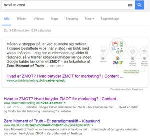 Page Zero eksempel - content marketing