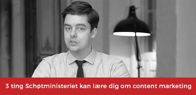 Schøtministeriet content marketing