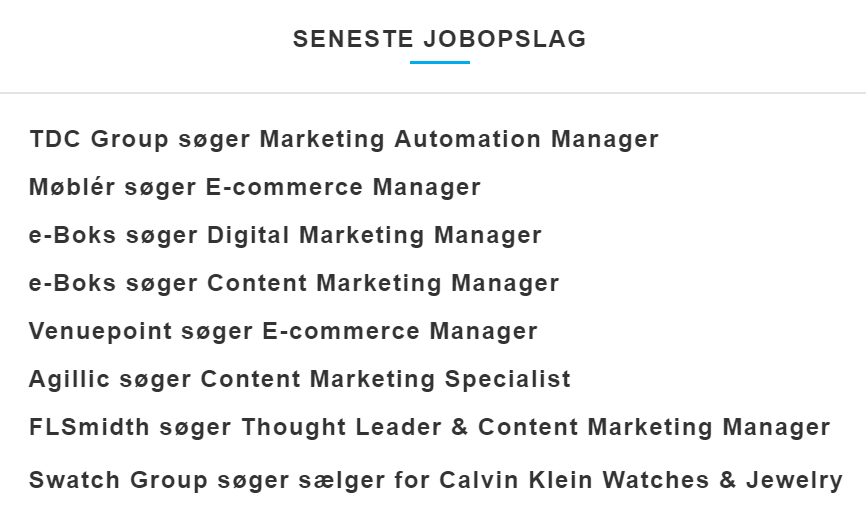Content marketing manager jobs hos Dansk Markedsføring