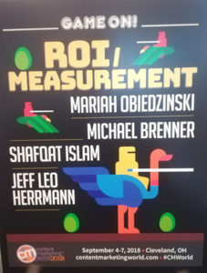 ROI measurement track - Content Marketing World